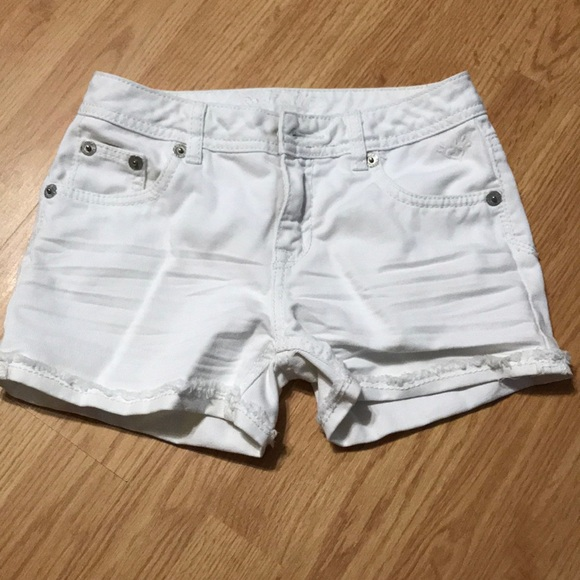 Justice Other - Justice Girls White Jean Shorts Size 12R